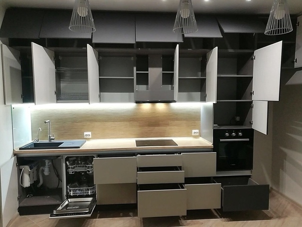 Белый кухонный гарнитур-Кухня МДФ в ПВХ «Модель 99»-фото3