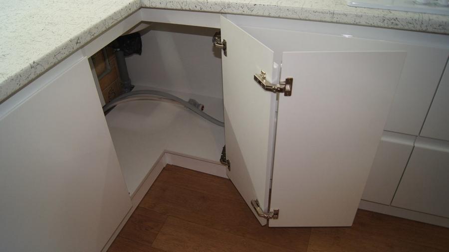 Белый кухонный гарнитур-Кухня МДФ в эмали «Модель 286»-фото6