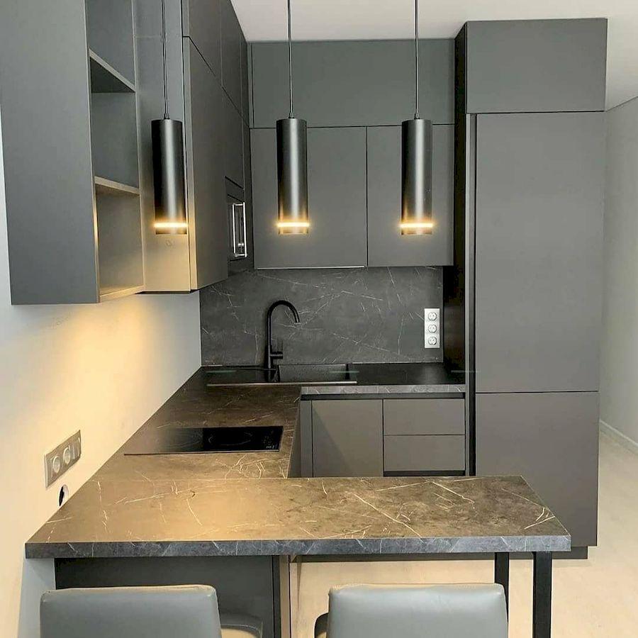 Высокие кухни под потолок-Кухня МДФ в ПВХ «Модель 677»-фото2