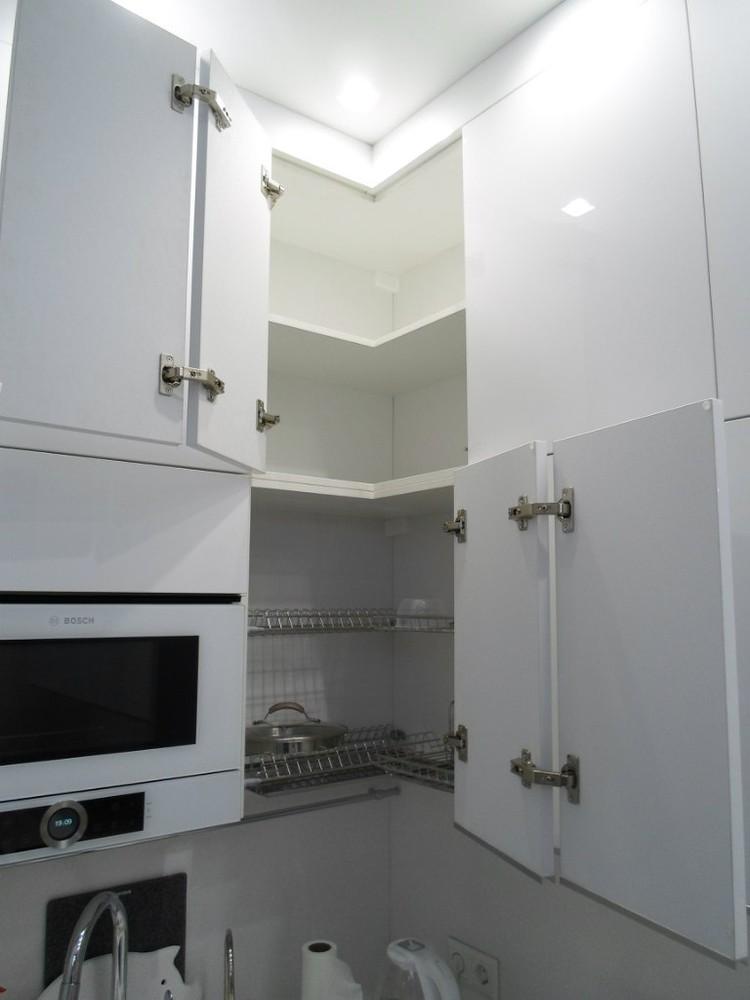 Акриловые кухни-Кухня МДФ в эмали «Модель 203»-фото6