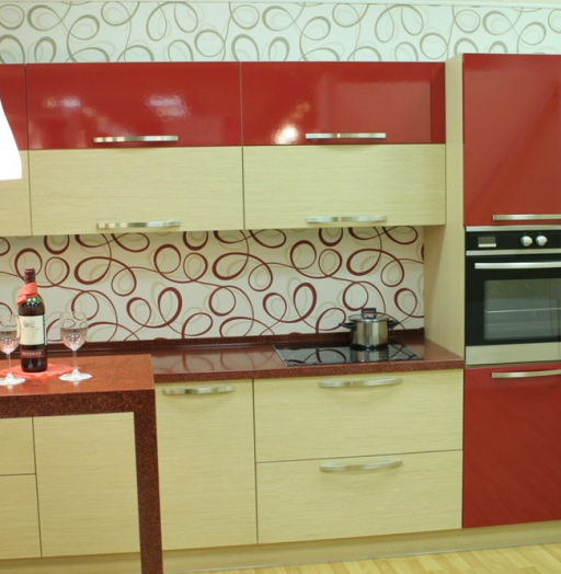 -Кухня из пластика «Модель 129»-фото5