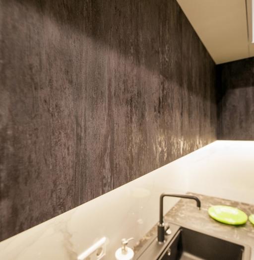 Белый кухонный гарнитур-Кухня из пластика «Модель 611»-фото4